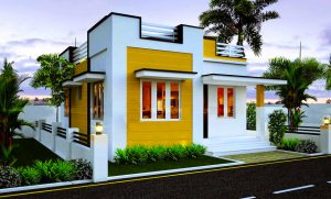 Stylish Home Plan In 800 Sq