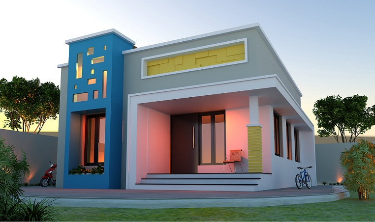 Low Budget &Modern Plan in 730 sq